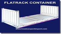 40' Flatrack Container dimension