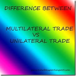 difference between multi vs unilateral