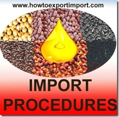 Importation of oil grains