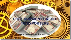 bank loans to exporters as post shipment finance