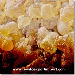 Import of Gums,resins,lacs,Vegetable Saps and Extracts