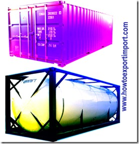 difference between normal container and tank containers