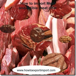 How to import Meat and Edible meat offal
