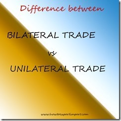 Difference between bilateral agreements and unilateral agreements platinumwayz