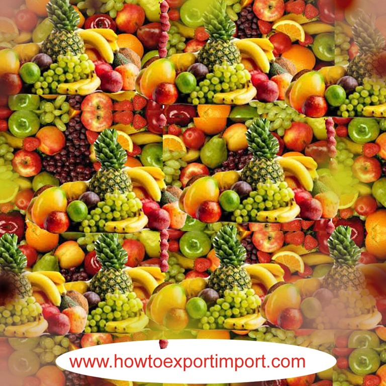 Shipping procedures to import Edible Fruits and nuts, peel