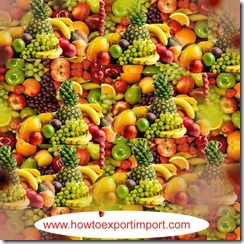 Import of Edible Fruits and nuts, peel of citrus or melons