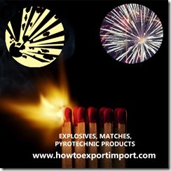 36 EXPLOSIVES, MATCHES, PYROTECHNIC PRODUCTS