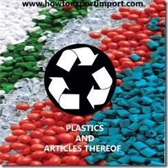 39 PLASTICS ARTICLES THEREOF