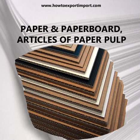 6 Digit Hs Codes Chapter 48paper And Paperboard Articles Of Paper