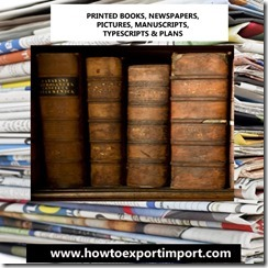 49 PRINTED BOOKS, NEWSPAPERS, PICTURES, MANUSCRIPTS, TYPESCRIPTS