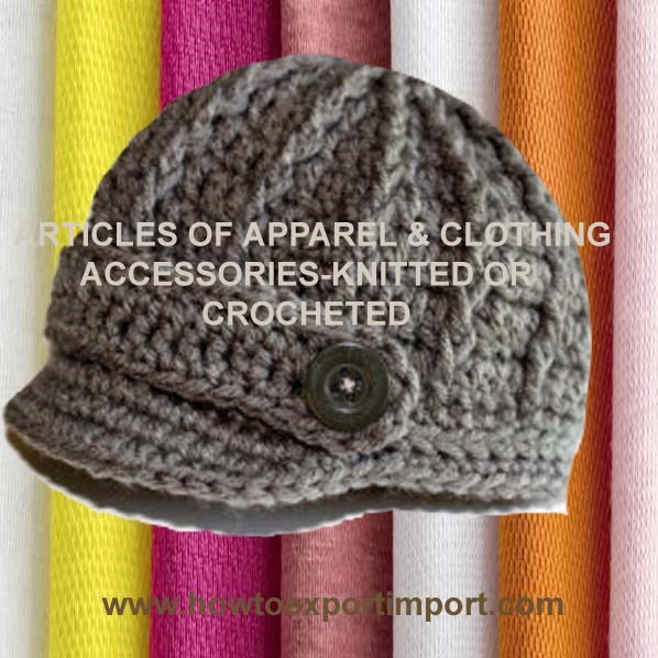 Hs Code Articles Of Apparel And Clothing Accessories Knitted Or