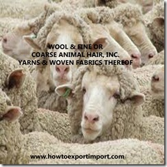 51 WOOL FINE OR COARSE ANIMAL HAIR THEREOF