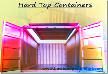 1 x 20' hard top container