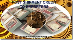 Bank post shipment finance to exporters