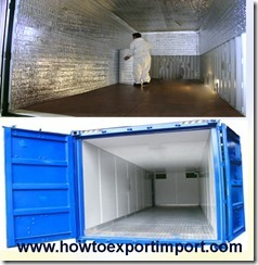 Use of Insulated Containers