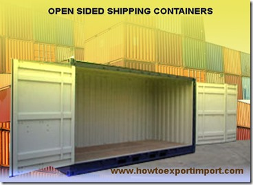 Open sided Containers