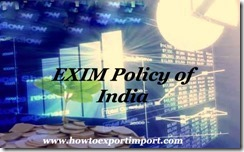 EXIM policy OF INDIA 2015-20 d