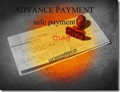 Advance payment the best way of terms for business copy