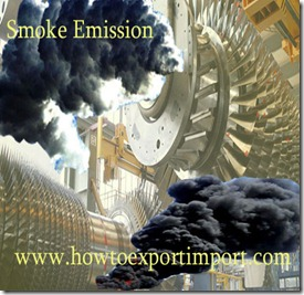 Air emission rules under import of goods