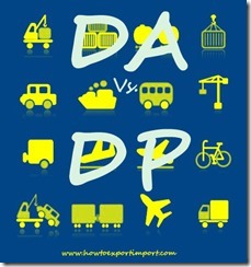 Any difference between DA and DP terms of payment copy
