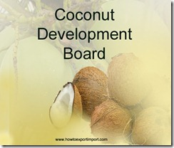 CDB,Coconut Development Board