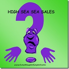 Can high sea sales possible under air shipment copy