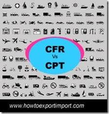 Difference between CFR and CPT in shipping terms