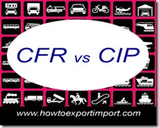 Difference between CFR terms and CIP terms