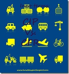 Difference between CIP and CFR in shipping terms copy