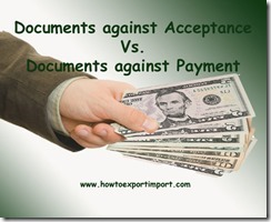 Difference between DA and DP terms of payment copy