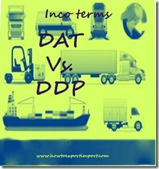 Difference between DAT and DDP in shipping terms copy
