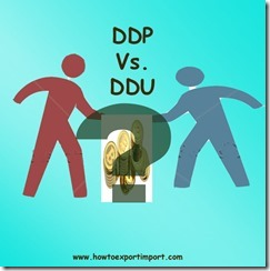 Difference between DDP and DDU terms of delivery copy