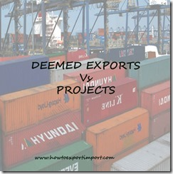 Difference between Deemed exporters Project exporters service exporters in India copy