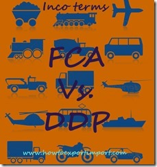 Difference between FCA and DDP in shipping terms copy