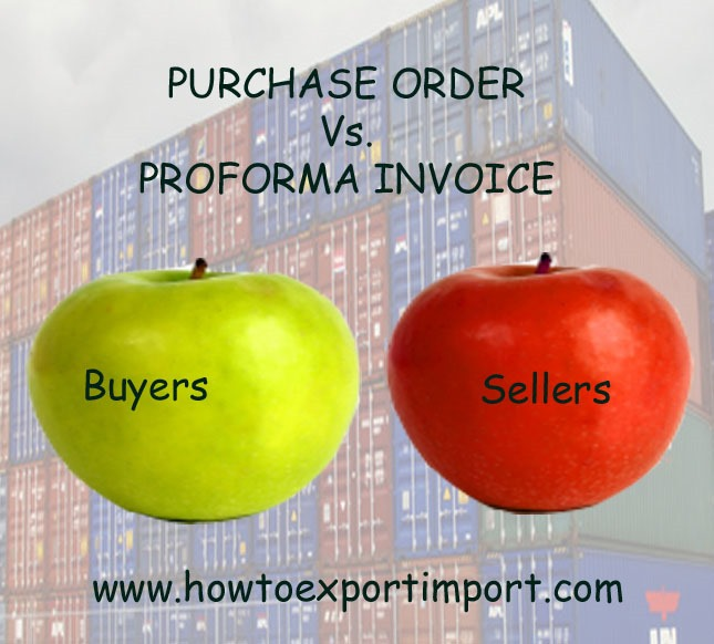 Difference Between Purchase Order And Pro Forma Invoice