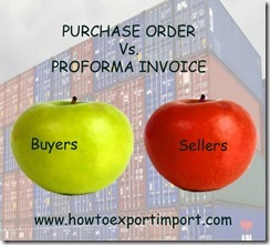 Difference between Purchase Order and Pro forma Invoice copy