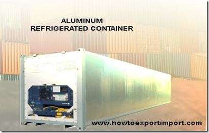 1x20 Aluminum Reefer container