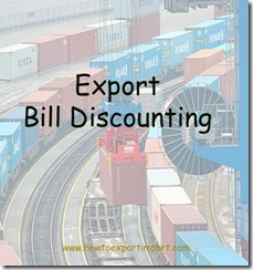 Export bills discounting formalities copy