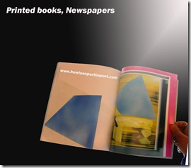 Printed books, Newspapers