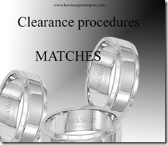 clearance procedures Matches