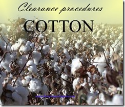 clearance procedures cotton