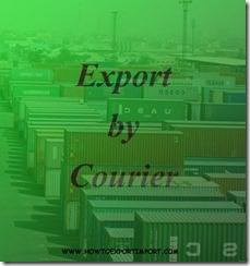 Export to India by courier copy