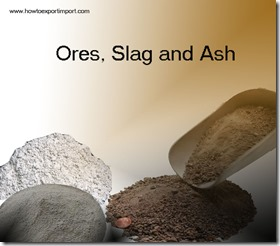 Ores, Slag and Ash