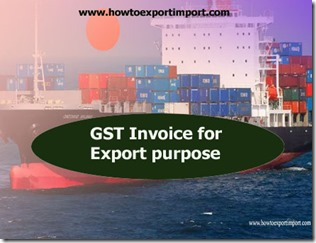 GST Invoice for Export Purpose