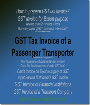 GST Tax Invoice of a Passenger Transporter