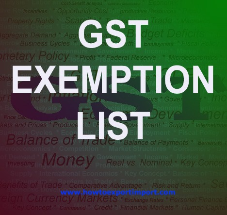 Gst Exempted Goods In India