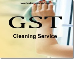 GST for Cleaning Services in India