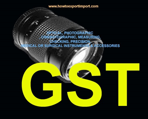 GST for Medical, Surgical, optical, photographic and