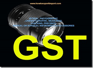 GST for Medical, Surgical, optical, photographic and cinematographic products