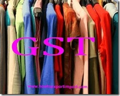 GST for knitted or crocheted clothing accessories, articles of apparels.